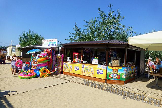 Анапа Центральный пляж торговля