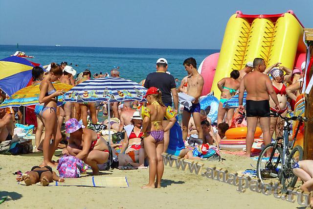 Анапа Центральный пляж август