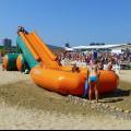 Анапа Центральный пляж надувная водная горка для детей