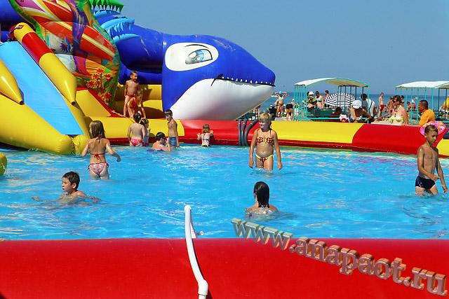 Анапа Центральный пляж бассейн для детей