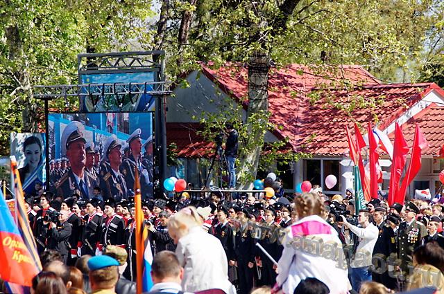 Празднование 70-летия Победы в Анапе - торжественное мероприятие на Театральной площади