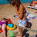 Пляж Витязево начало августа уорка мусора