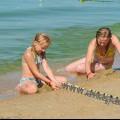 Пляж Витязево начало августа дети