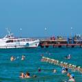 Пляж Витязево причал для морских судов