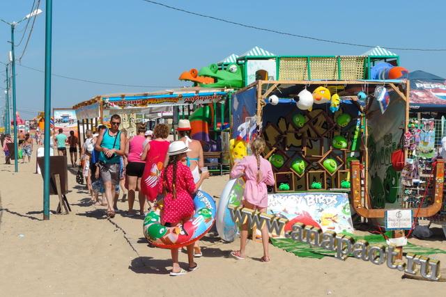 Пляж Витязево вход на пляж по деревянному настилу